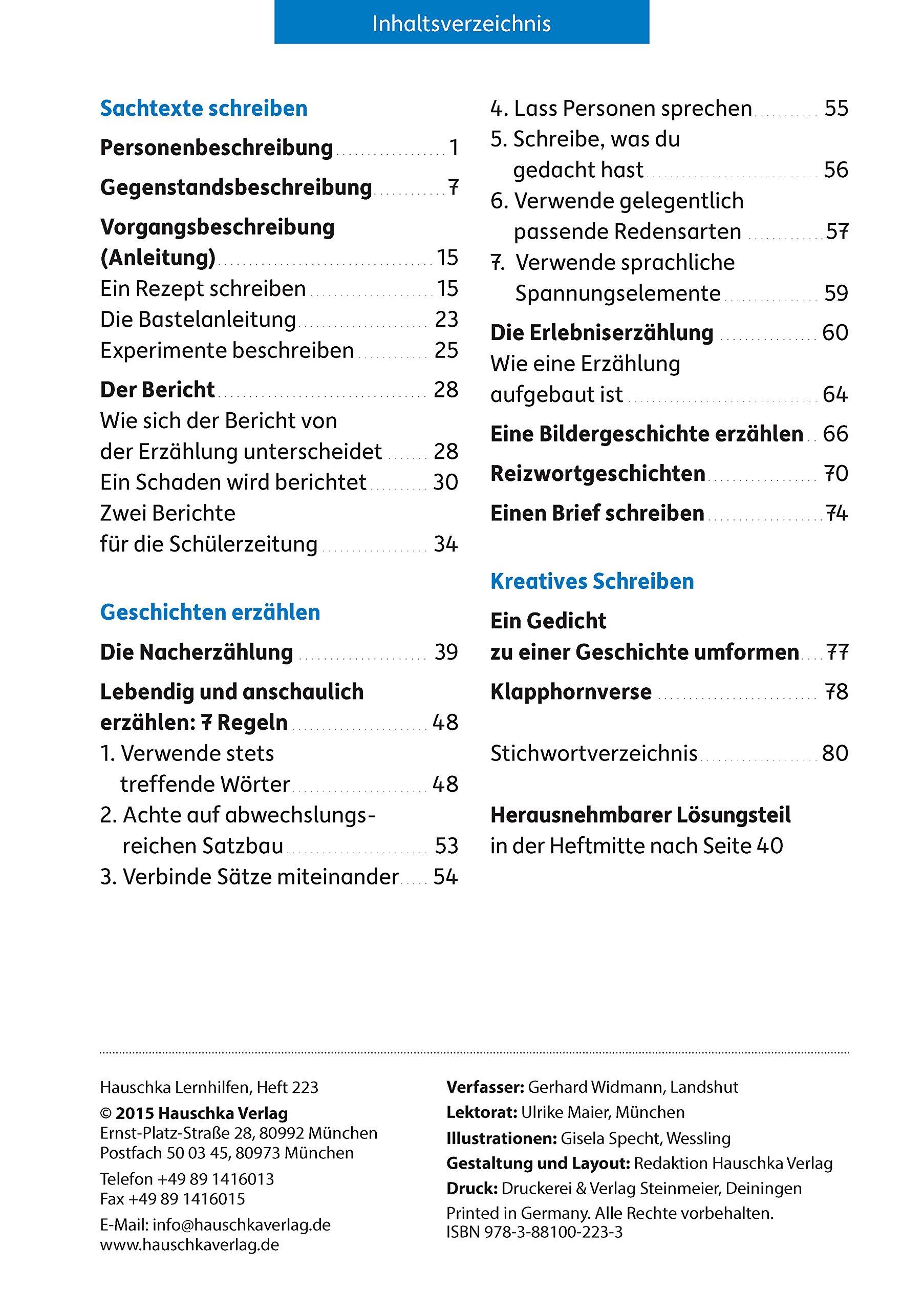 Aufsatz Deutsch 4. Klasse Deutsch: Aufsatz, Band 223: Amazon.de ...