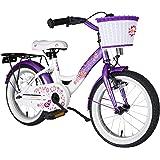 bike*star 40.6cm (16inches) Kids Children Girls Bike Bicycle Classic - Colour Lilac & White