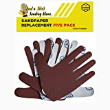 Sandpaper Replacement Five Pack - LEFT HAND Assorted Grits