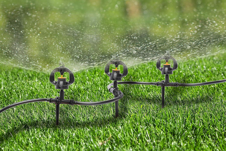 UPP kit de riego, aspersores pequeños I juego de microaspersores para riego de jardín I sistema de riego automático, juego de regadores (5 aspersores): Amazon.es: Jardín
