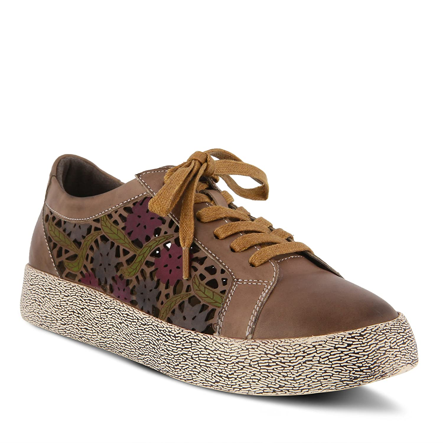 L`Artiste by Spring Step Womens Leather Sneakers MEA Taupe EU Size 38