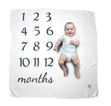 b04b82fa3 Baby Milestone Blanket | Monthly Photo Prop to Watch Your Newborn Infant  Grow | Perfect Baby