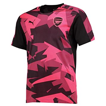 a2a8f0476 Puma Arsenal Kids Pre-Match Camo Stadium Shirt - Pink Black 2017 2018-