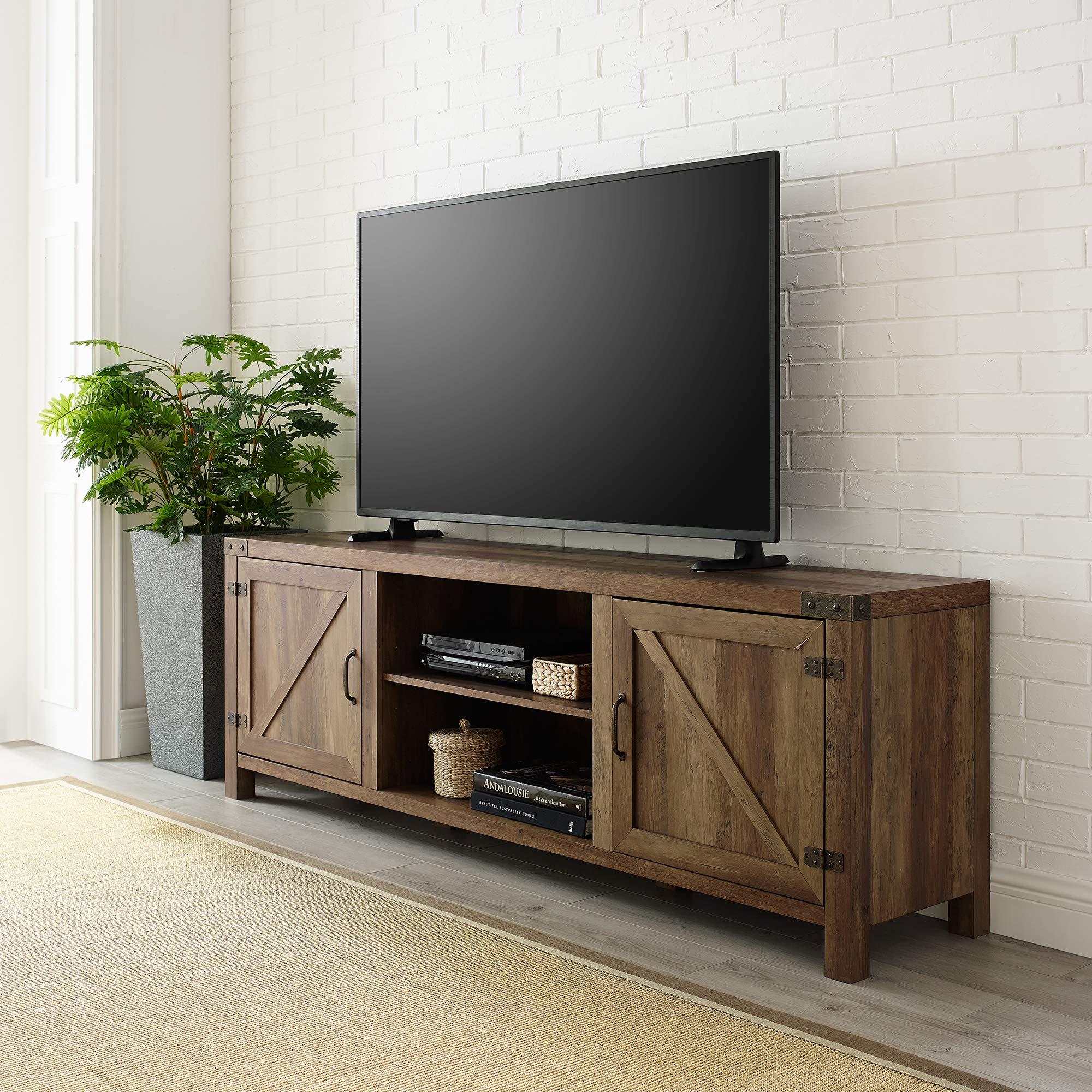 WE Furniture TV Stand, 70'', Rustic Oak by WE Furniture