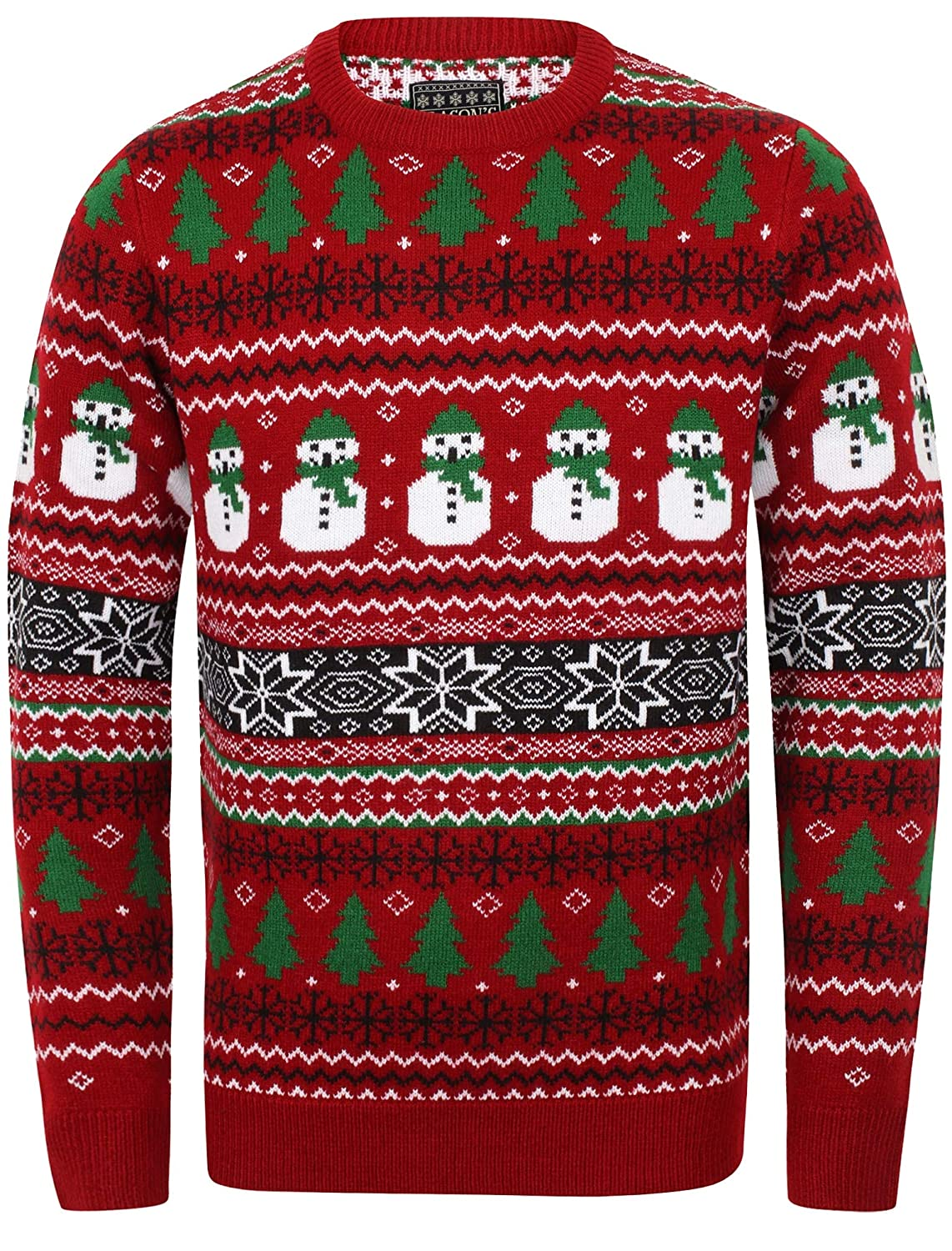 Season's Greetings Adults Traditional Style Knitted Christmas Sweater/Jumper