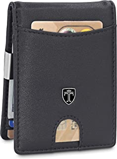 6e08b8c943d TRAVANDO Slim Wallet with Money Clip SEATTLE RFID Blocking Card Mini Bifold  Men