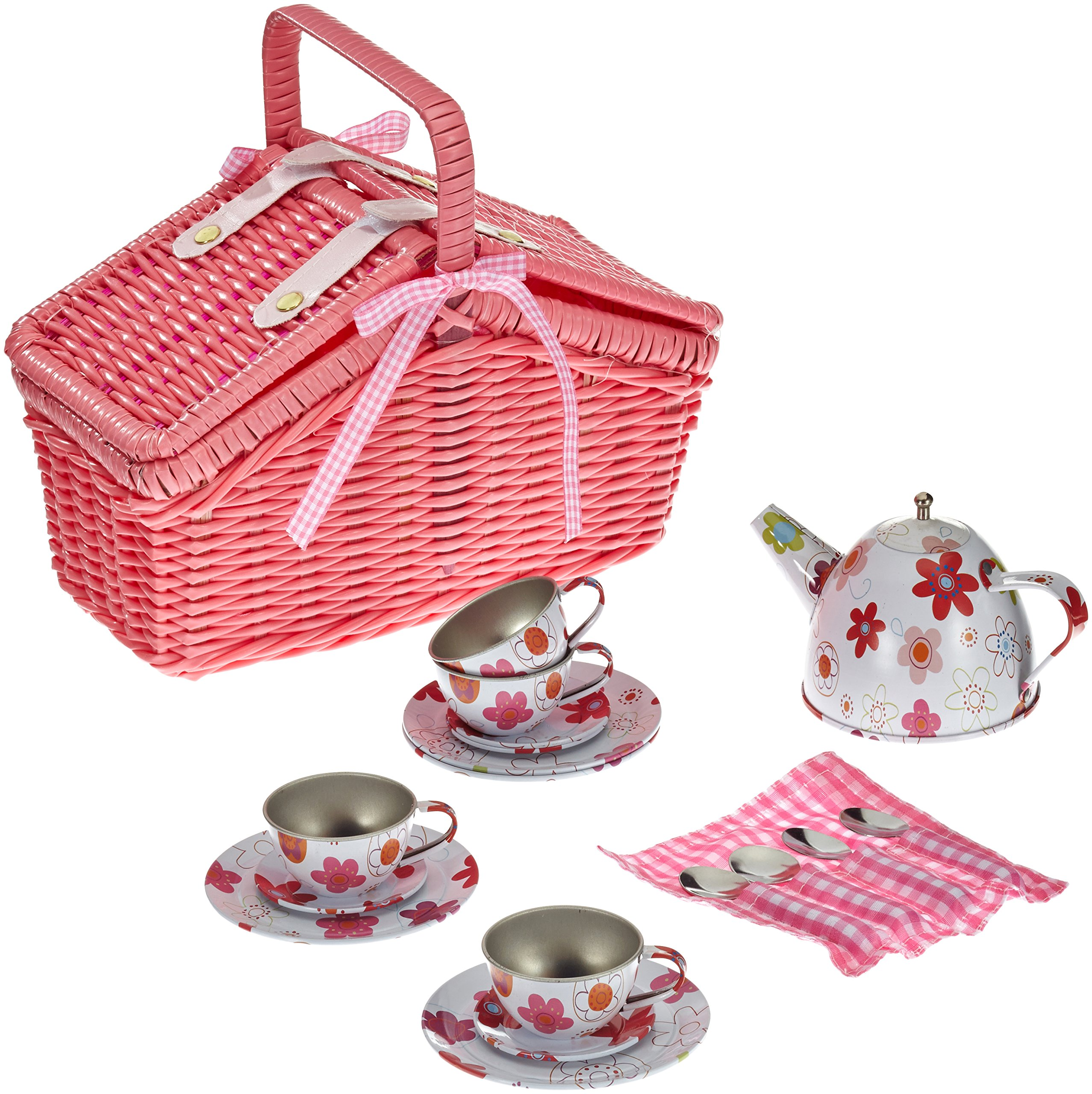 Legler Picnic Basket Play Set with 18 pieces