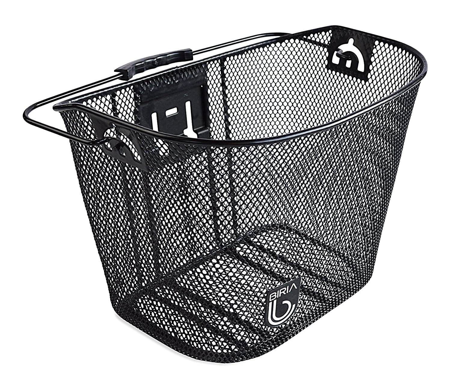 Amazon.com : Biria Bicycle Basket With Bracket Black   Front Quick Release  Basket, Removable, Wire Mesh Bicycle Basket