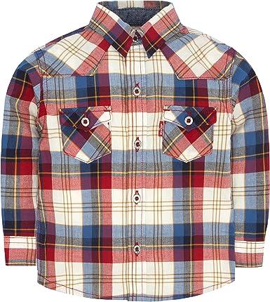 Levis - Camisa de cuadros para bebé - Rojo - 12 meses ...