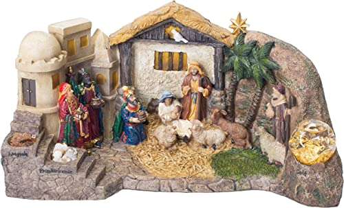 Deluxe Panorama Nativity Scene 14 inch Resin Christmas Dimensional Figurine