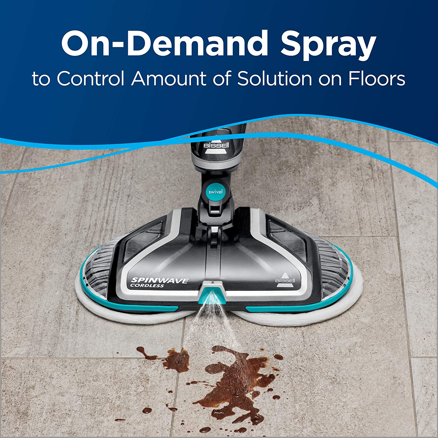 Bissell Spinwave Wood Floor Cleaner and Buffer 2307 Cordless Hard Mop
