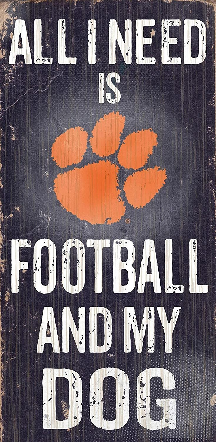 Fan Creations Sign Clemson University Football and My Dog, Multicolored
