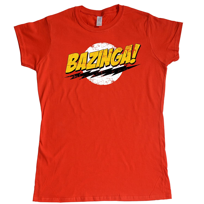 Stooble Womens's Bazinga T-Shirt Stooble - 1ClickPrint