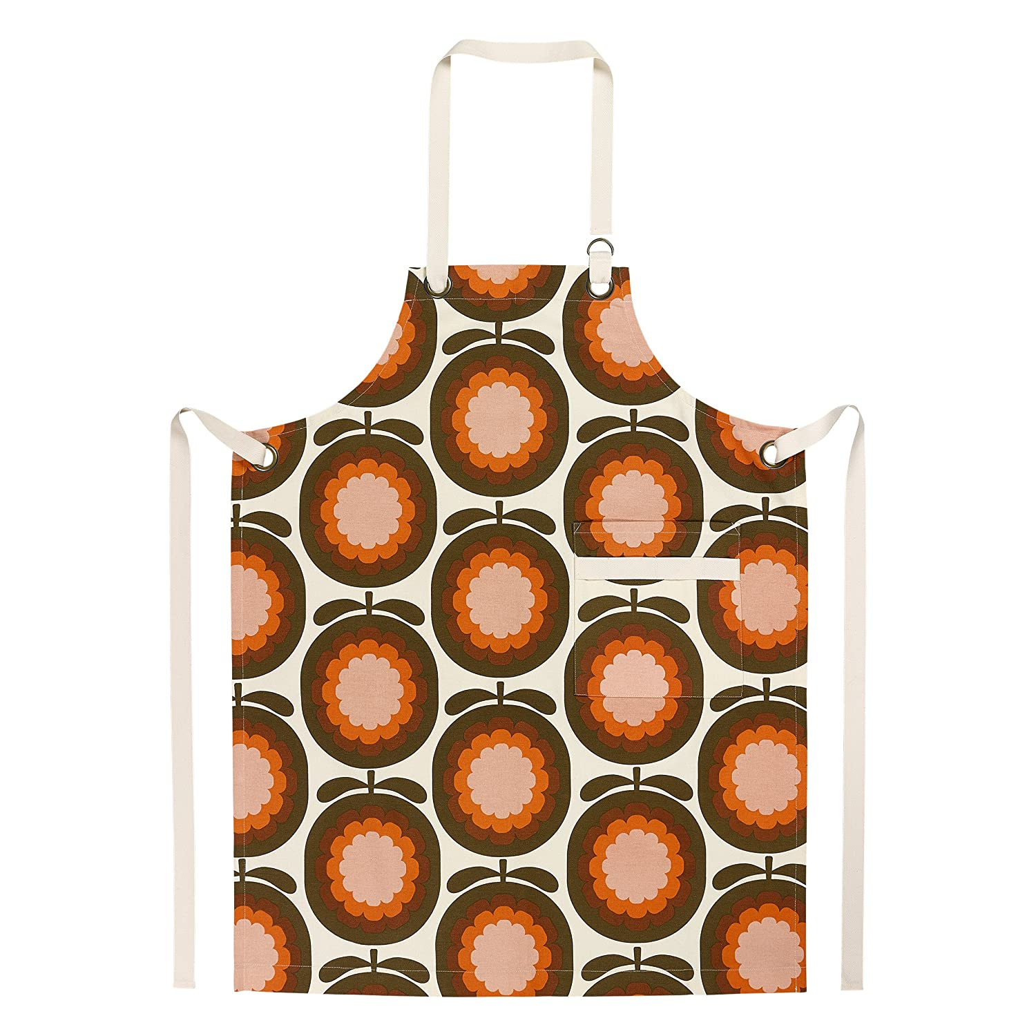 Orla Kiely | Cantaloupe Melon | Apron | Red | 100 % Cotton