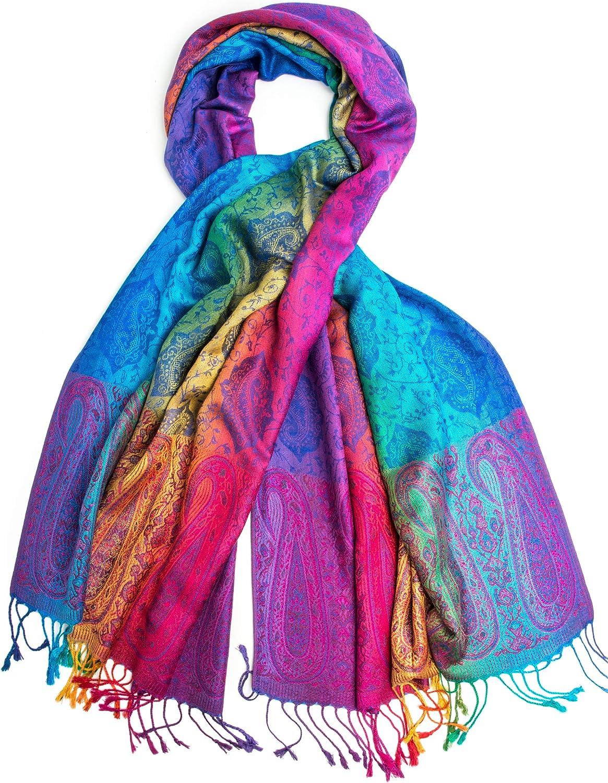 Iris Rainbow Pashmina Real...