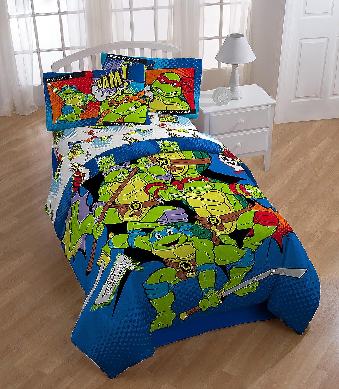 Ninja Turtle Bedroom Furniture Amazoncom Nickelodeon Teenage Mutant Ninja Turtles Microfiber