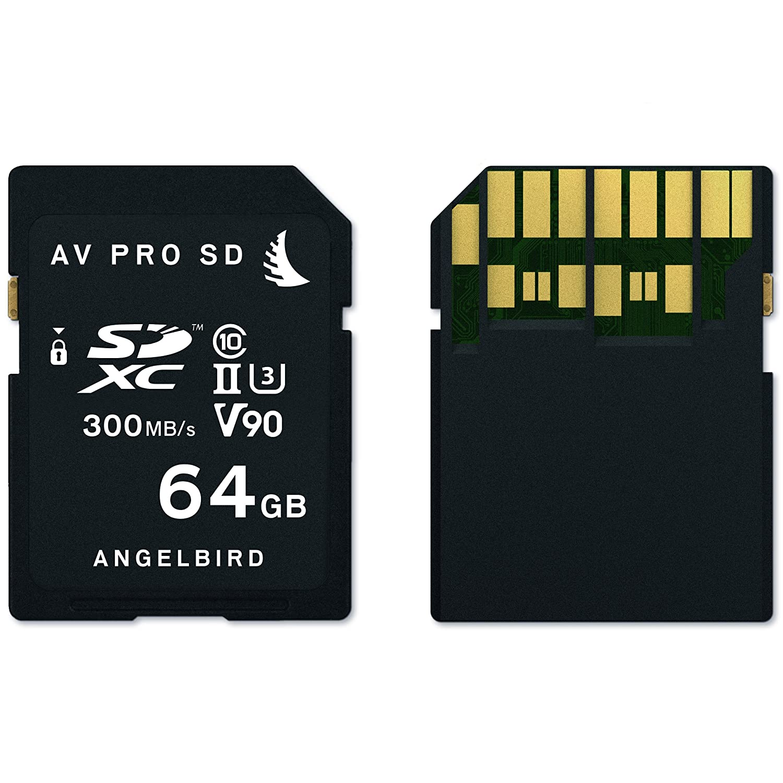Angelbird Technologies AVP064SD Memoria Flash 64 GB SDXC Clase 10 UHS-II - Tarjeta de Memoria (64 GB, SDXC, Clase 10, UHS-II, 300 MB/s, Negro)