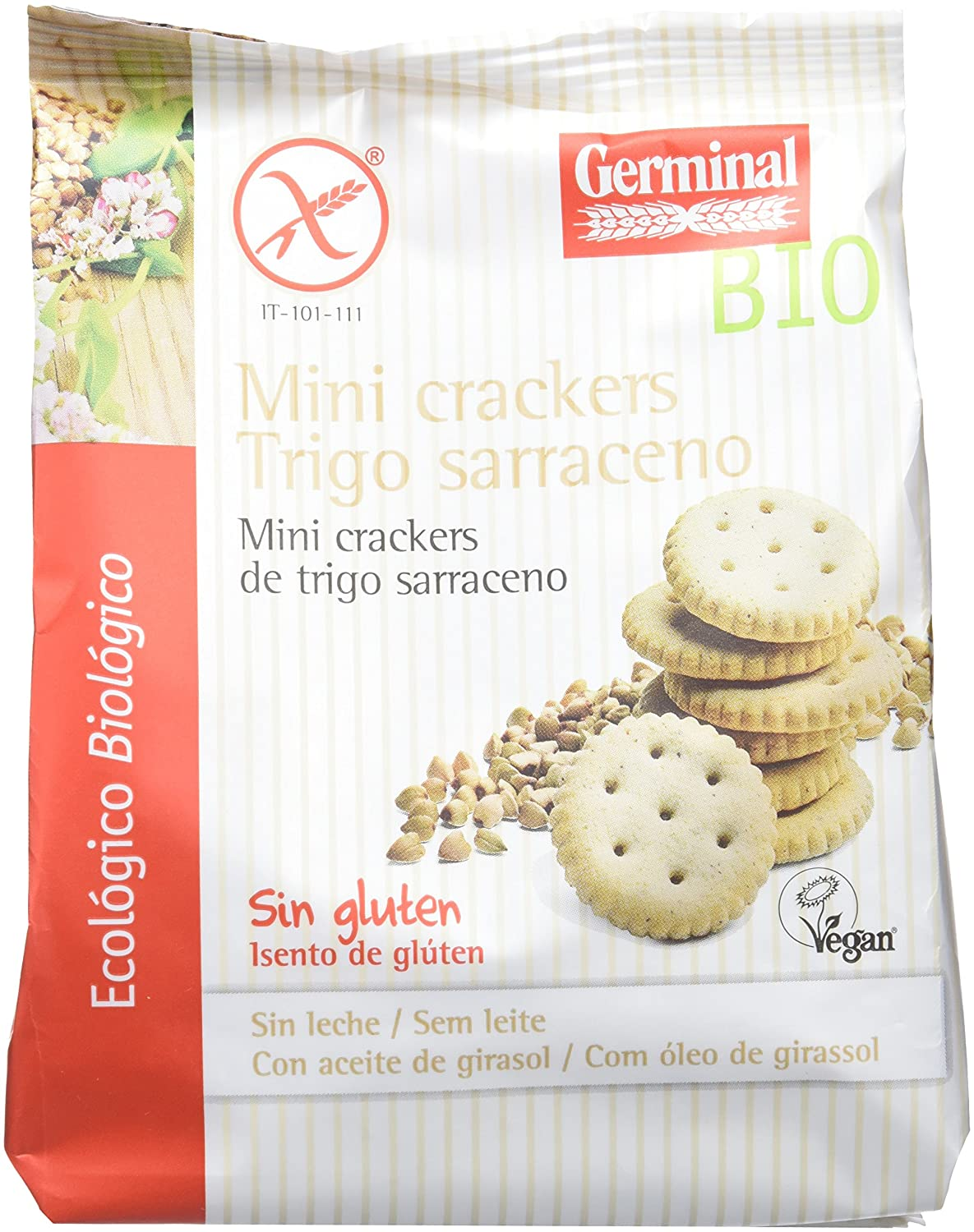 Germinal Mini Crackers de Trigo Sarraceno Sin Gluten ...