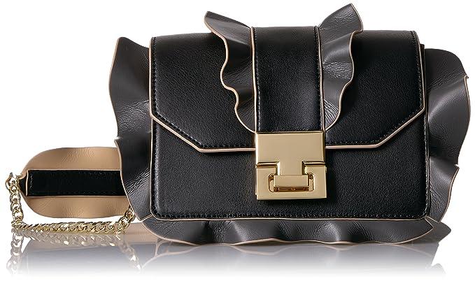 e6a1de7332c Ivanka Trump Hopewell Crossbody-Black Ruffle: Handbags: Amazon.com