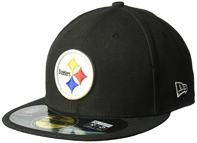 Amazon.com   NFL Mens Pittsburgh Steelers On Field 5950 Game Cap By New Era    Sports Fan Baseball Caps   Clothing bfeb02fc6