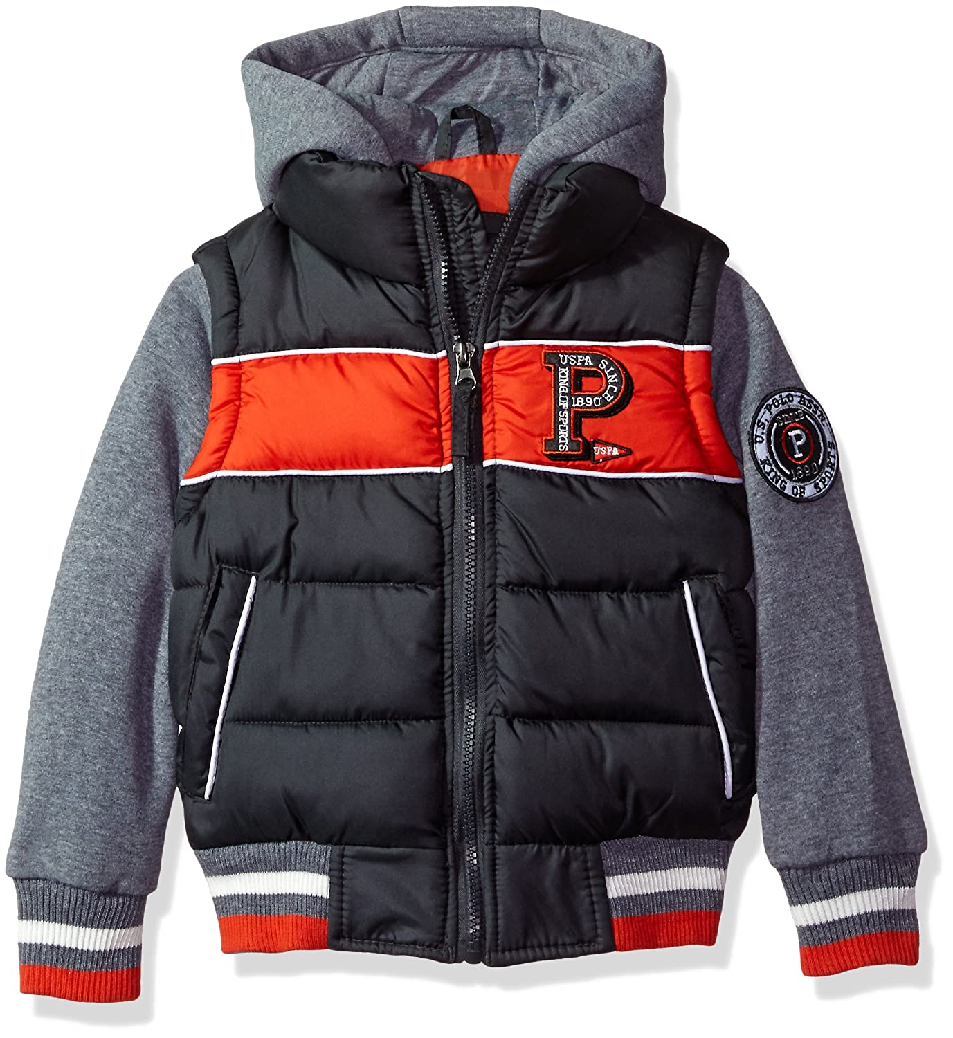 U.S. Polo Assn. Boys' Fashion Outerwear Jacket (More Styles Available) US Polo Baby Outerwear OIU315H