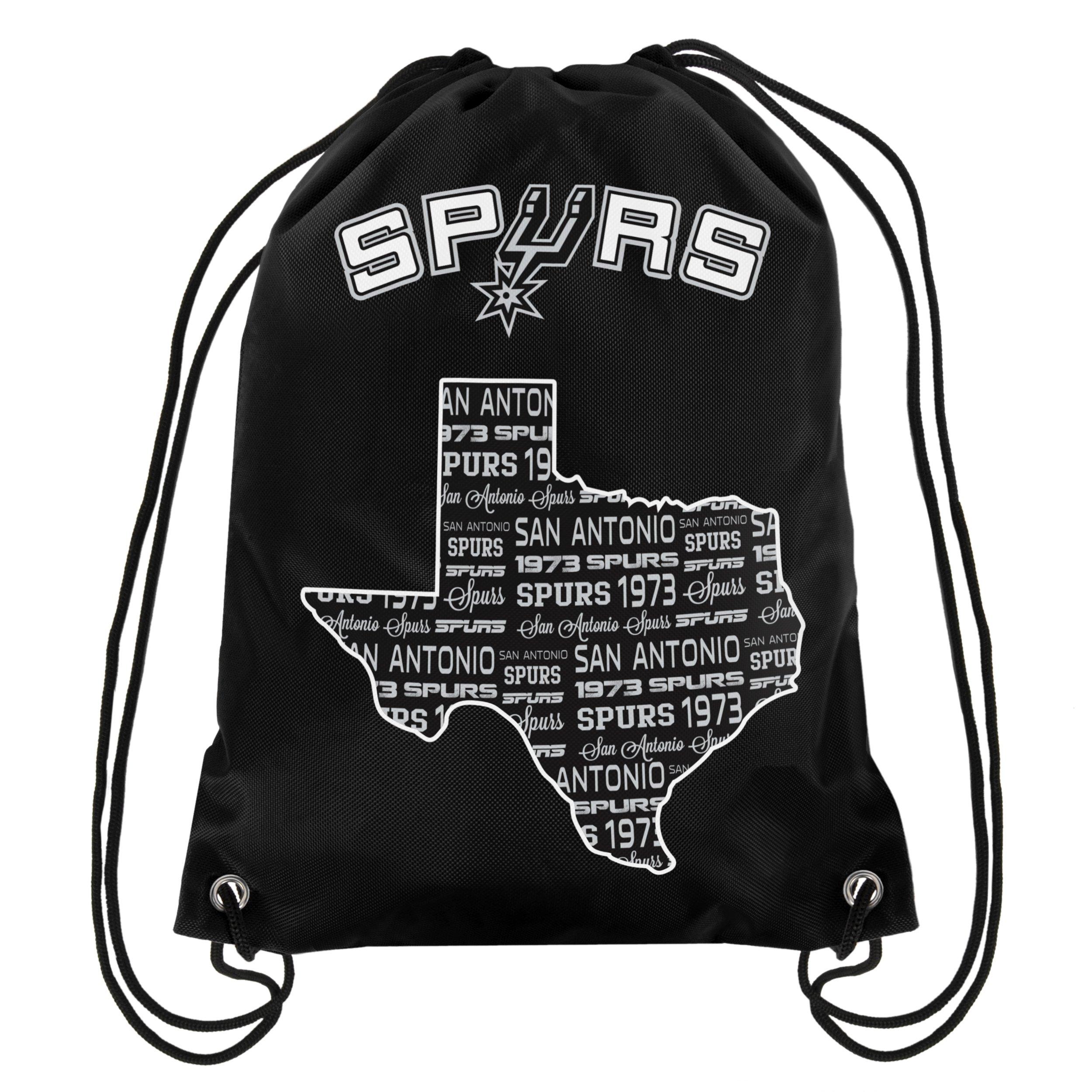 FOCO NBA San Antonio Spurssmu St Drawstring Backpack, San Antonio Spurs, One Size