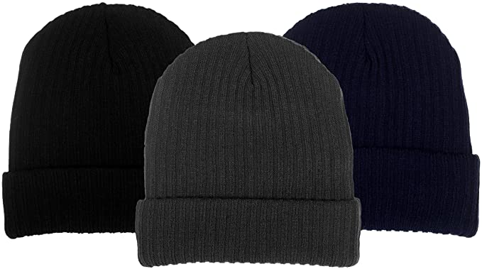 b52280f8af3 Boys Extra Warm 4-Ply Knit Fat Hat with Wraparound Cuff in 3 Great Colors