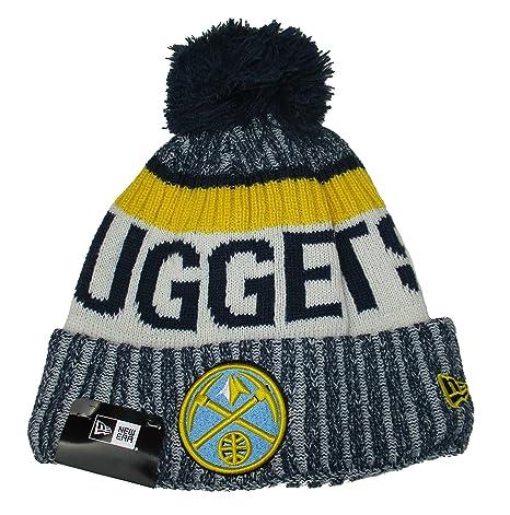 info for c5c95 1deca ... usa denver nuggets new era adult cuff knit beanie w pom one size hat  cap 16f26