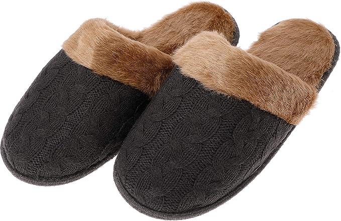 Men's Fuzzy House Slippers Christmas