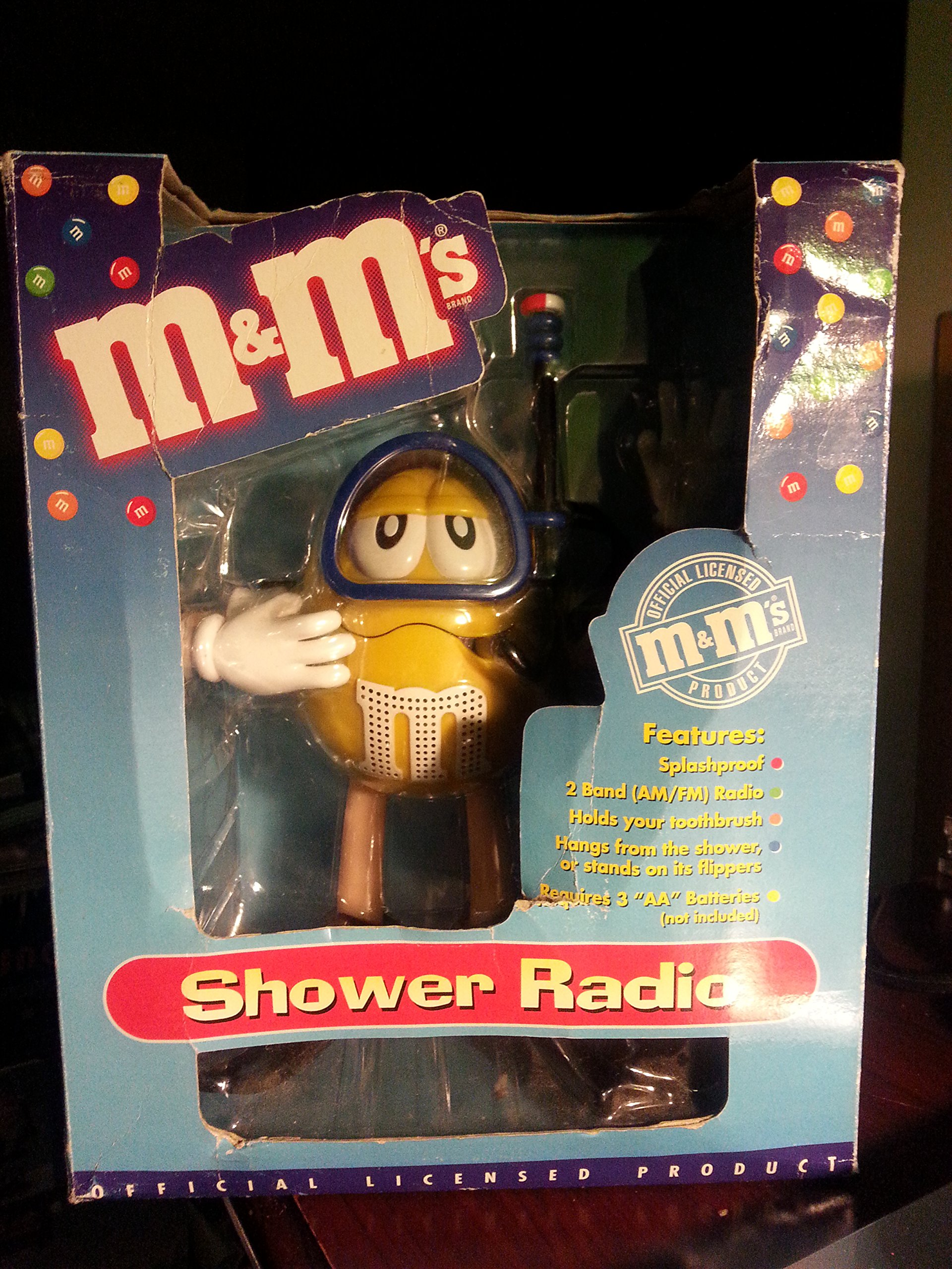 M&Ms M&M M & M Shower Radio Scuba Diver AM FM