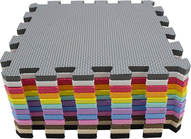 meiqicool Spielmatte Puzzle-Puzzelmatten F/ür Baby Matte Krabbelmatte Babymatte Puzzleteppich 18 St/ück Schadstofffrei Bodenpuzzle 30x30cm Schaumstoff Schaumstoffmatte Baby pink beige 0310