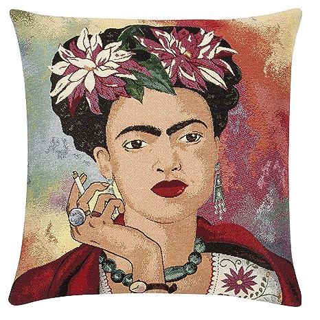 pad Cojín Decorativo Frida (45 x 45 cm), Color Rojo: Amazon ...