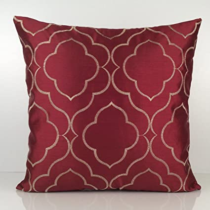 Amazon Red And Gold Pillow Cover Throw Pillow Cover Mesmerizing Red And Gold Decorative Pillows