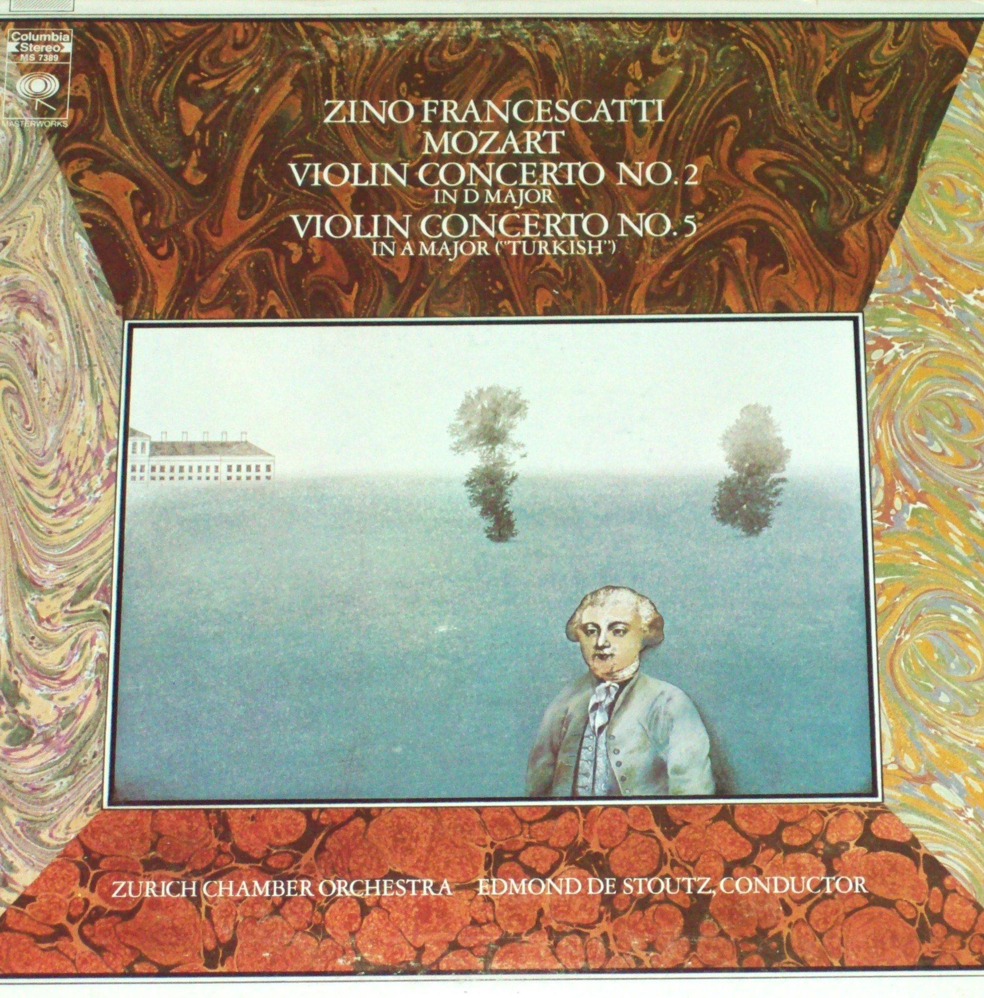 Mozart - Violin Concerto No. 2 & 5 Turkish - 12'' vinyl LP - Francescatti Columbia MS 7389 by Columbia Masterworks