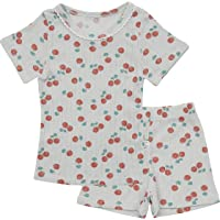 AVAUMA Design Newborn Baby Little Boy Girl Pajamas Summer Ribbed Short Sleeve Sets Pjs Kids Clothes