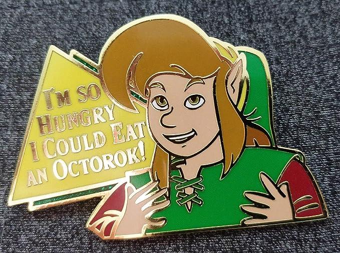 Amazon Com The Legend Of Zelda Phillips Cd I Link Eat An Octorok Hard Enamel Lapel Pin Clothing