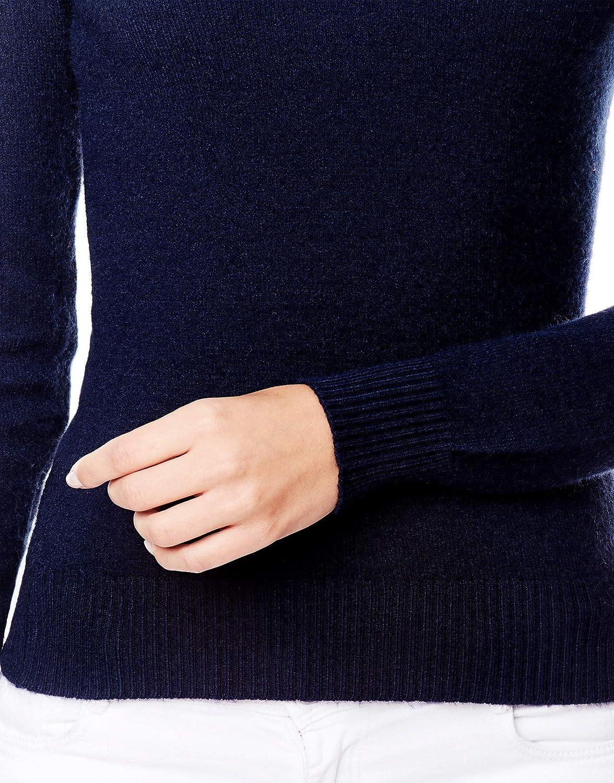 Vincenzo Boretti Maglione-Pullover Elegante Donna Caldo Mezza Stagione Manica-Lunga Ideal per Inverno Disegno Classico con Scollo-a V a Costine Autunno