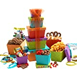 Broadway Basketeers Gift Tower, Happy Birthday Celebration