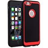 iPhone 6s Case,iPhone 6 Case,Geminiman Flexible Slim Fit Heavy Duty Protection Rugged Shock-Absorption and Anti-Scratch Protective Cover For Apple iPhone 6S/6 4.7 inch(Black&Red)