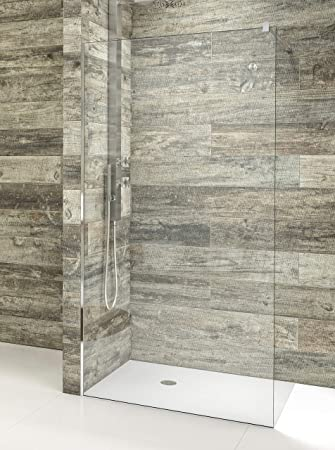 Mampara de ducha de 1 hoja fija - Cristal de Seguridad de 8 mm con ...
