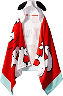 Jay Franco Peanuts Classic Cotton Kids Bath/Beach/Pool Hooded Towel Cape,