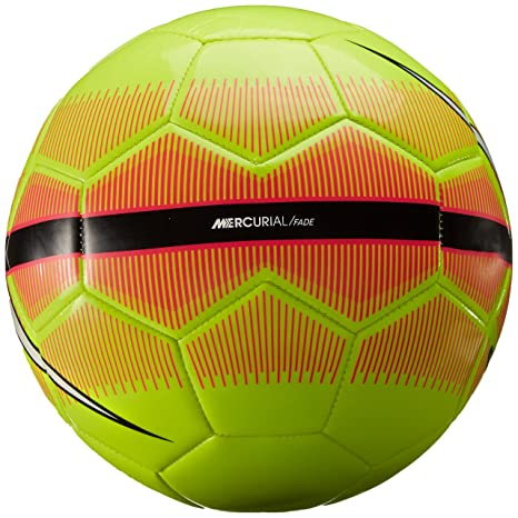 29bec9842 Image Unavailable. Image not available for. Color  Nike Mercurial Fade Volt    Pink Soccer Ball ...
