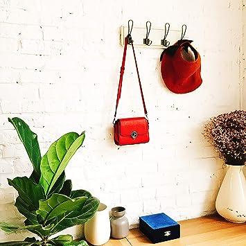 Amazon.com: Perchero rústico montado en la pared.: Office ...