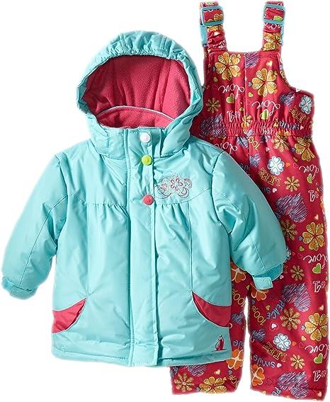 Rugged Bear Baby Girls Flower Snowsuit
