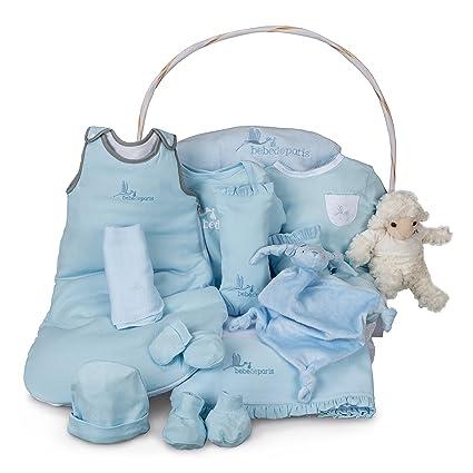 Canastilla bebé Serenity Ensueño - cesta regalo para recién nacido-completa con más de 10 productos ideales para la hora del sueño del bebé