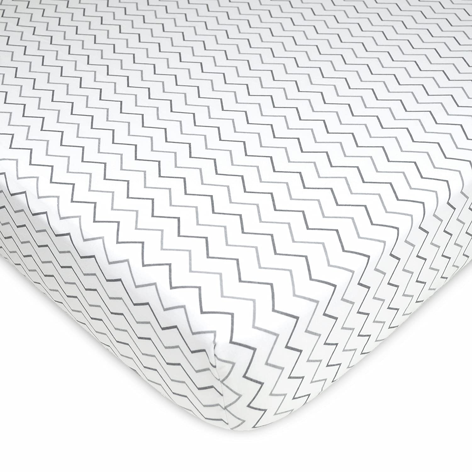 TL Care Fitted Crib Sheet for Standard Crib and Toddler Mattress for Boys and Girls American Baby Company 3550-Stars Stars and Moon