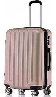 a2c80f1b1 Beibye - Juego de 3 maletas de viaje rígidas con ruedas., amarillo ...
