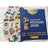 Panini 2018 FIFA WORLD CUP RUSSIA ALBUM (OFFICIAL SOFT COVER ALBUM AND 3 STICKER PACKETS INCLUDED)