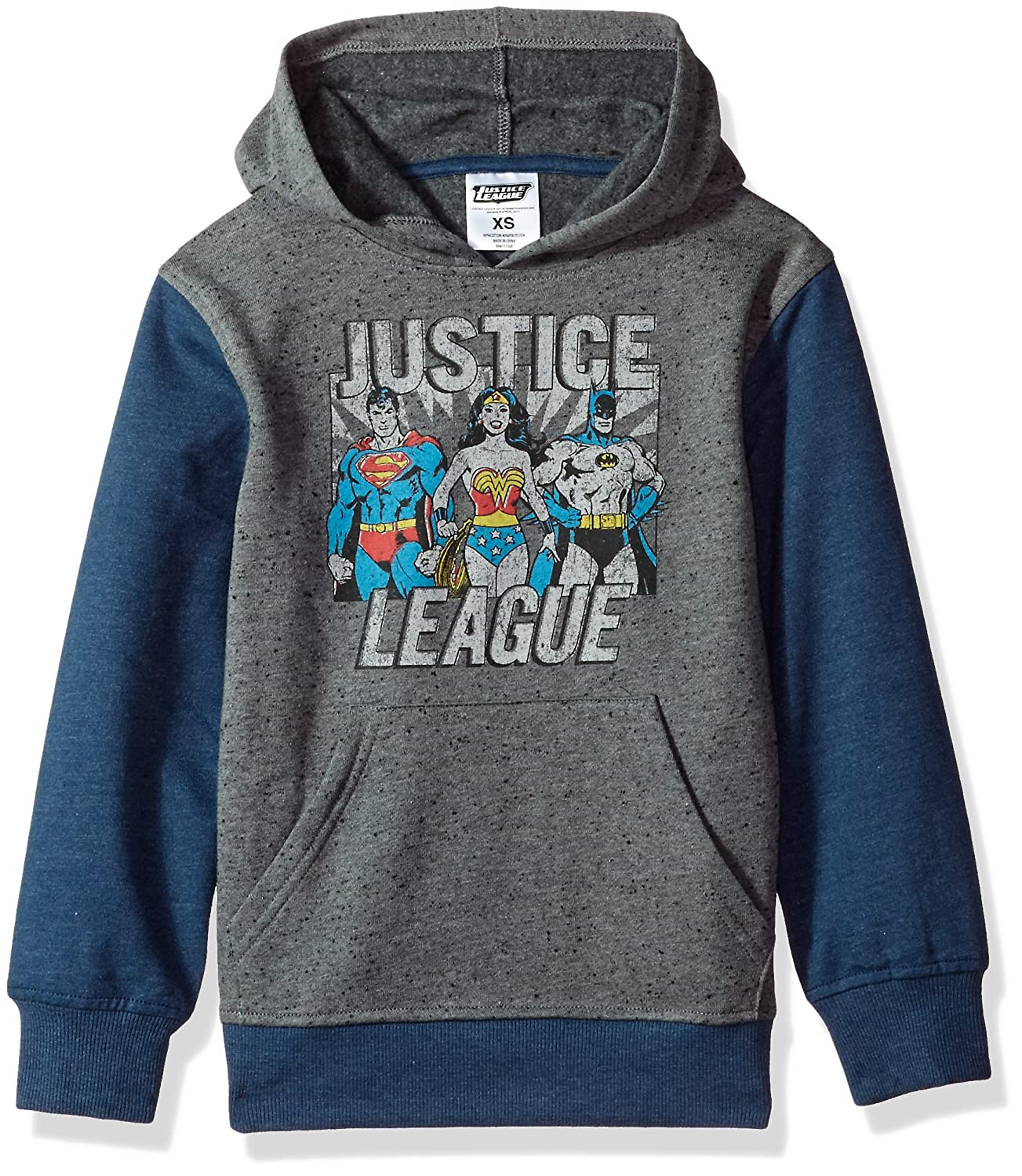 DC Comics Boys' Big Justice League Fleece Pullover Hoodie Hybrid Children's Apparel 2YDCB802FL