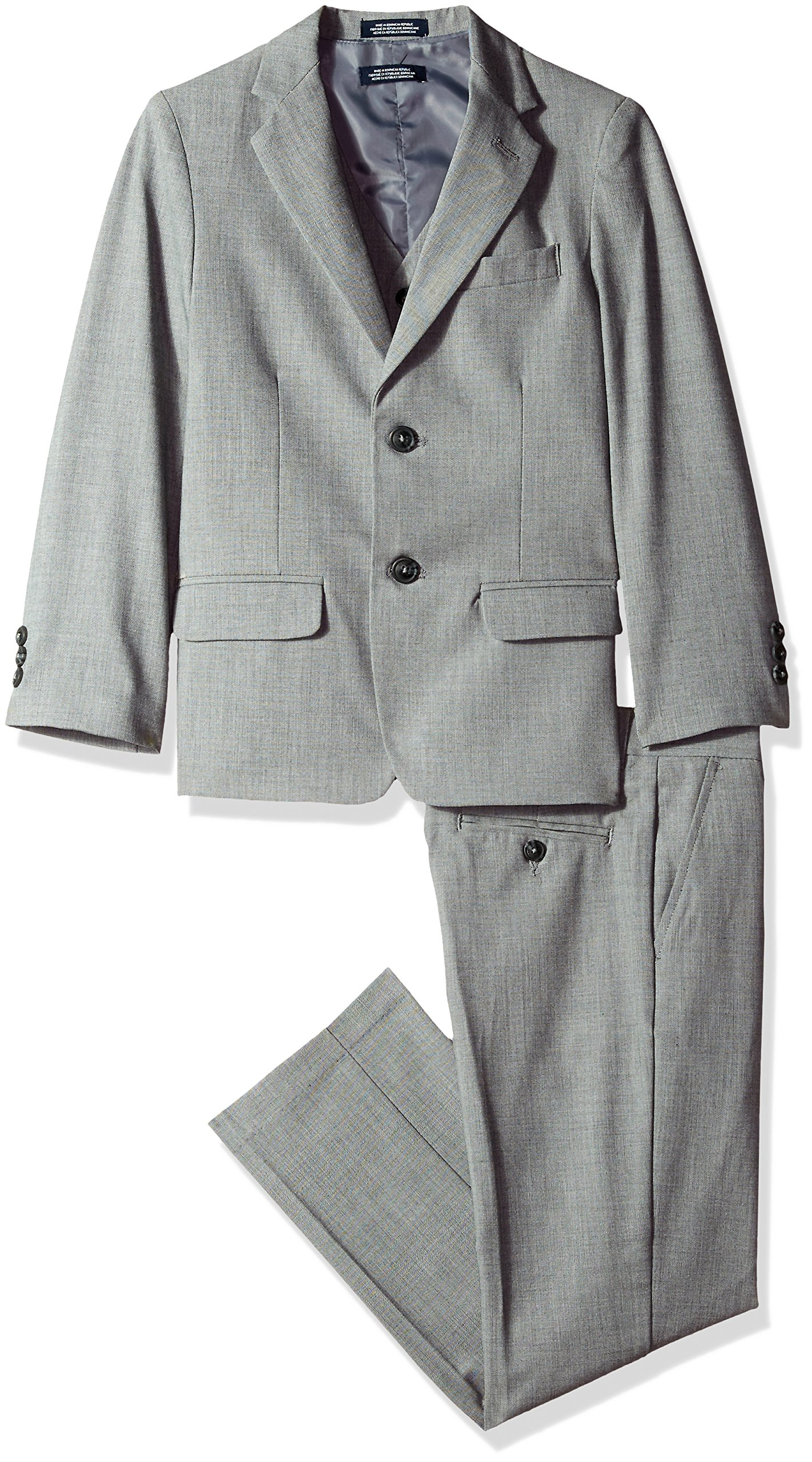 Nautica Three Piece Suit with Jacket, Pant, and Vest, Light Grey, 14